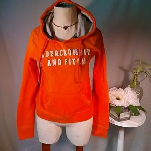 Abercrombie And Fitch Orange Hoodie